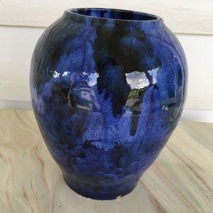 Blue Pottery Vase Beautiful Cobalt Sapphire Blue